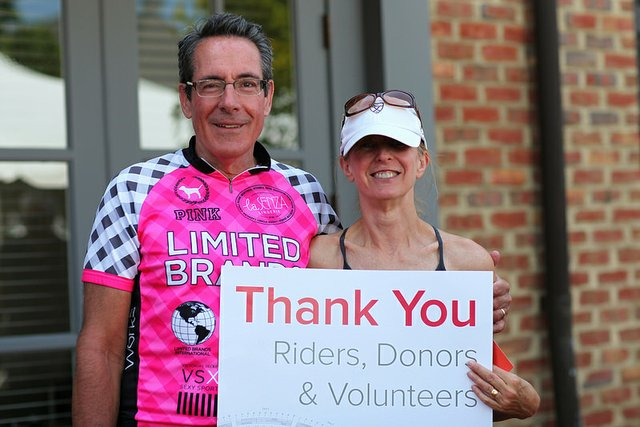 Bill and JoAnne Pelotonia 2014 Finish.jpg