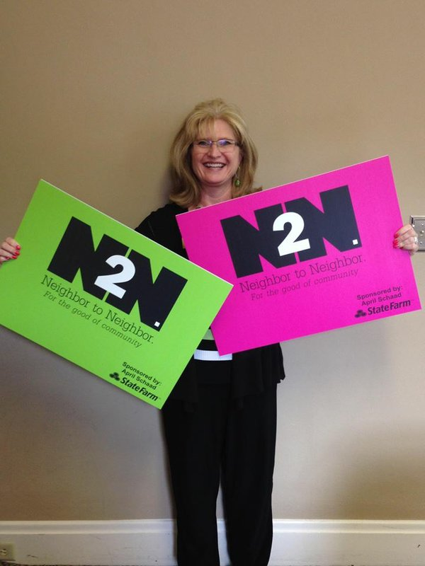 Thank you April Schaad (State Farm) for donating N2N yard signs.jpg