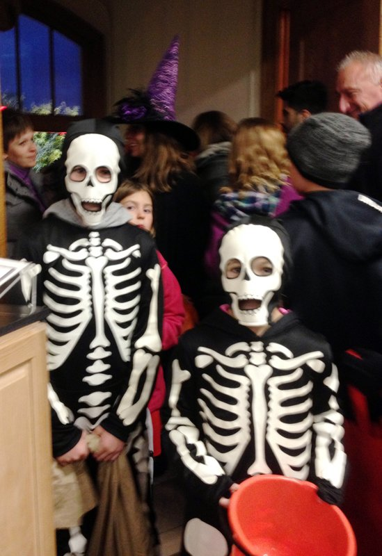 Two skeletons visit Historical Museum during Haunted Village.jpg