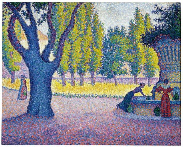 Paul Signac, Saint Tropez, Fontaine des Lices, 1895, Private collection.jpg