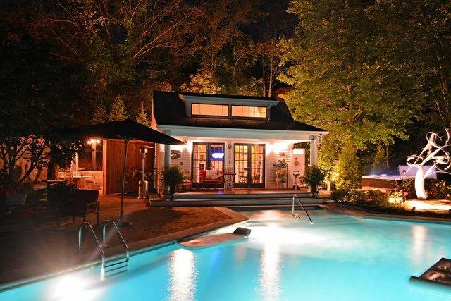 The Welsh Hills Inn - Pool Courtyard at Night - 08-2014.jpg