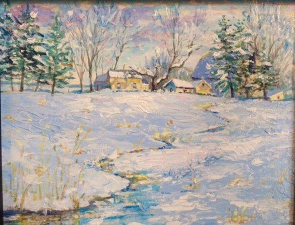 """Linda Wesner  """"Snow Field"""".jpg"""