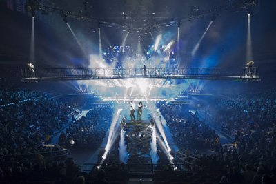 Trans Siberian Orchestra on stage performing