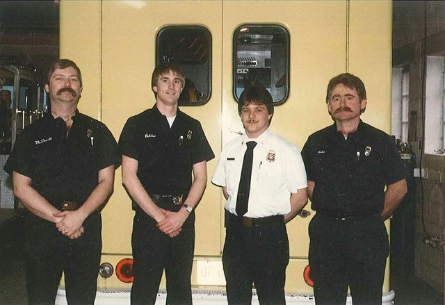 l-r mcdowell belcher taylor rohr first day for salaried 2-17-1986.jpg
