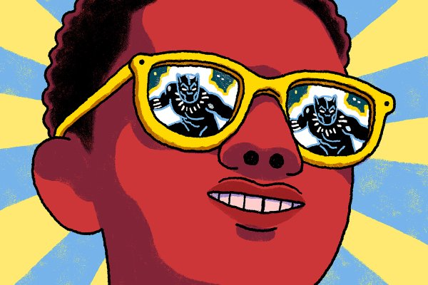 Richie Pope, Black Panther and the Revenge of the Black Nerds, Illustration for The New York Times. Courtesy of the artist.jpg