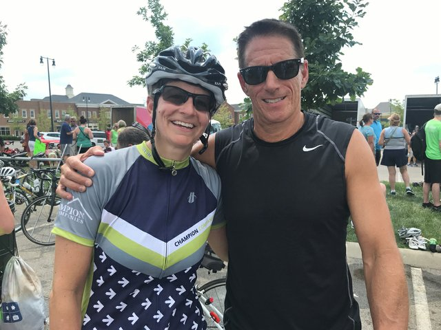 200 miler and New Albany resident Caroline Worley at the finish line with husband Guy Worley (002).jpg