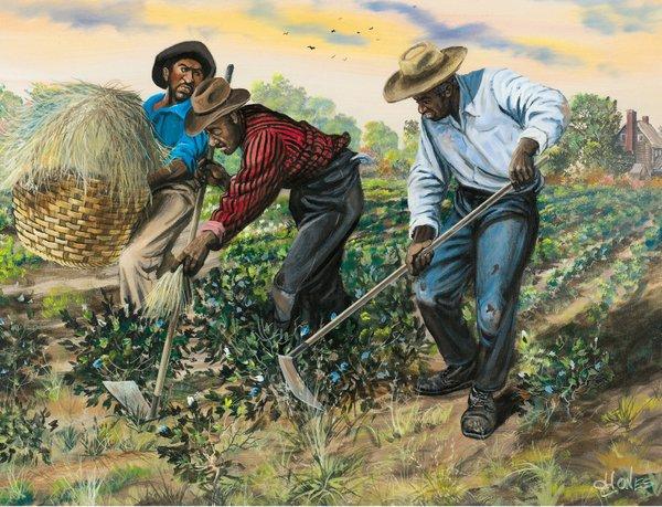 'Slaves Hoeing Cotton' By John W_ Jones.jpg