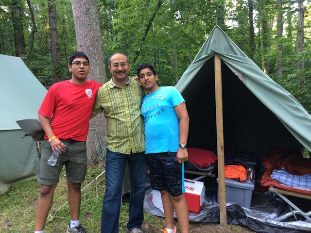 Shivam at a summer camp with his brother (Vardaan - Eagle) and Dad (002).JPG