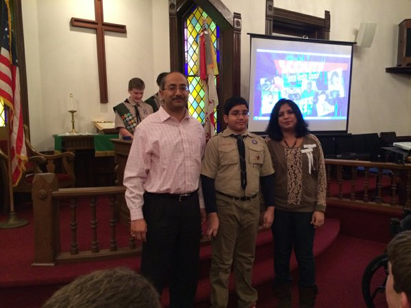 Shivam getting his Tenderfoot rank (002).JPG