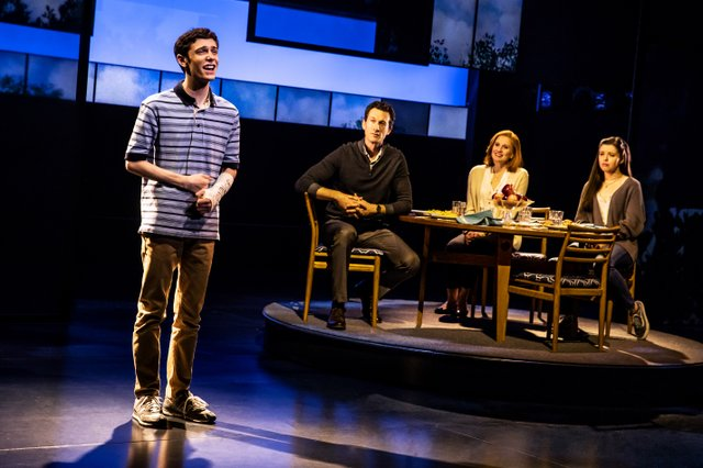 Ben Levi Ross, Aaron Lazar, Christiane Noll, Maggie McKenna in the First North American Tour of Dear Evan Hansen. Photo by Matthew Murphy. 2018.jpg