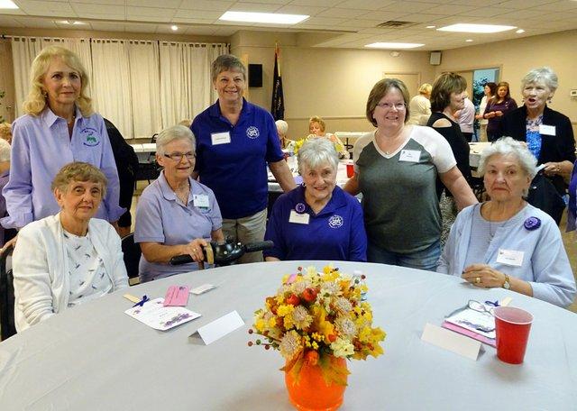 DSC09391 Charter Members-Mary Lou Tate, Connie McClellan, Ann Cradduck, Kathleen Murphy, Nancy Mack, Jan Powers and Gert Stacoffe.JPG