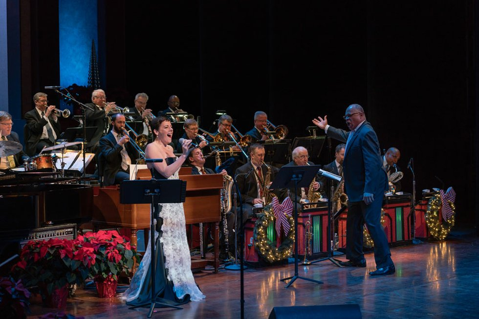 Peggy Dye with the CJO Home for the Holidays 2017.jpg