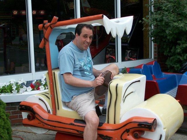 Marty in the Flintstonemobile.jpg