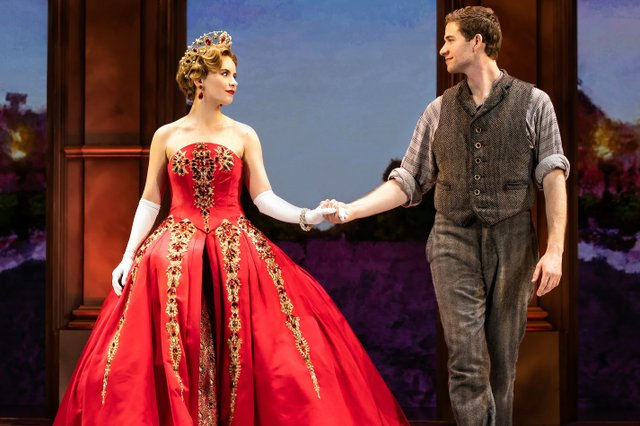 Lila Coogan (Anya) and Jake Levy (Dmitry) in National Tour of ANASTASIA. Photo by Evan Zimmerman, MurphyMade.jpg