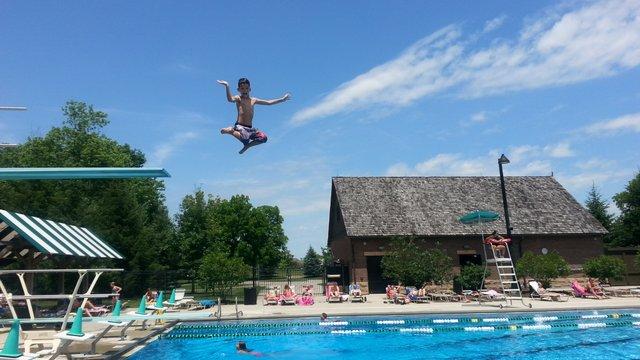 Flying High at Dublin Pool