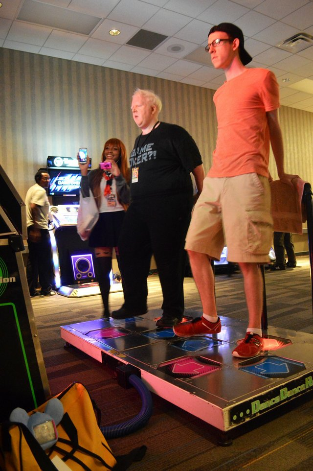 A little Dance Dance Revolution competition