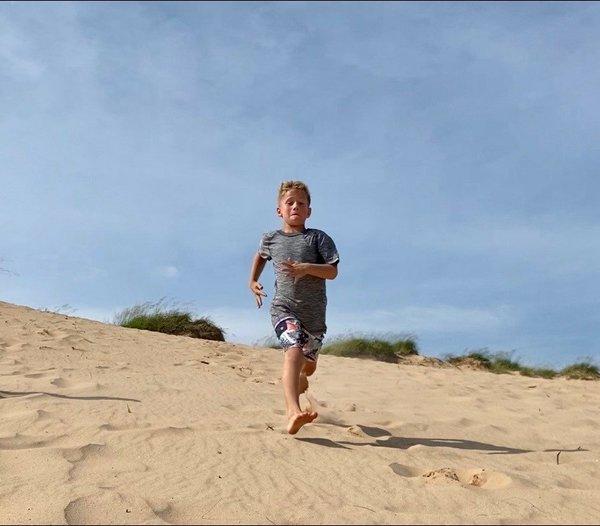 Bentley Baker, 7, training on vacation.jpg