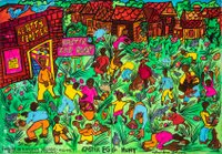 Easter egg hunt by Aminah Robinson