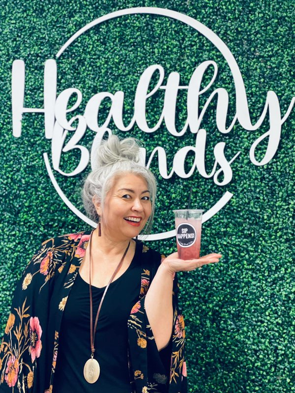 Deb promoting family-owned business Healthy Blends