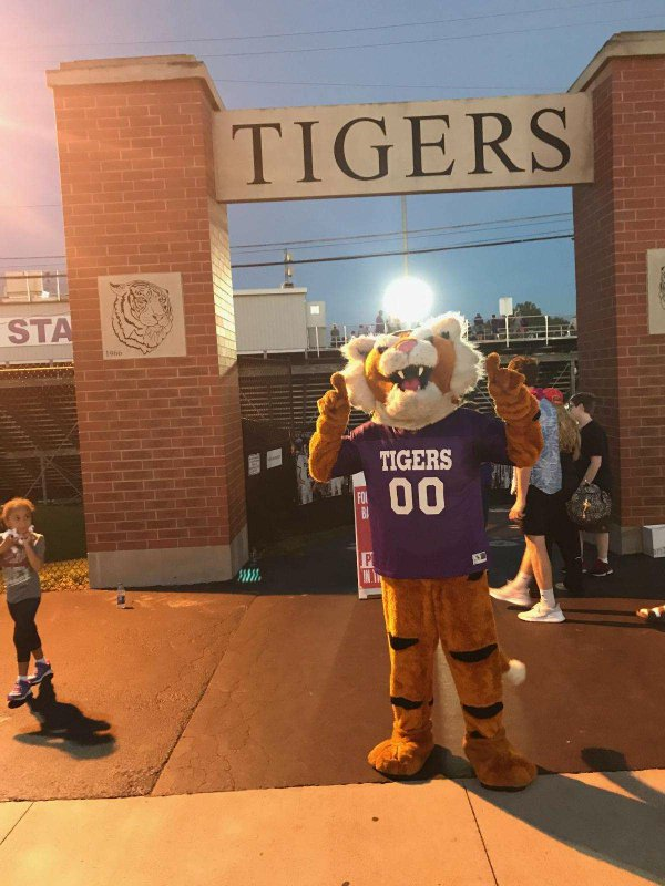 Credit Eric Music. PHSCs mascot gets ready to hype the team up before a game.jpg