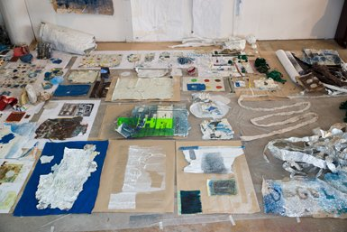 Suzanne Silver Claiming Space (studio installation) mm 2014.jpg