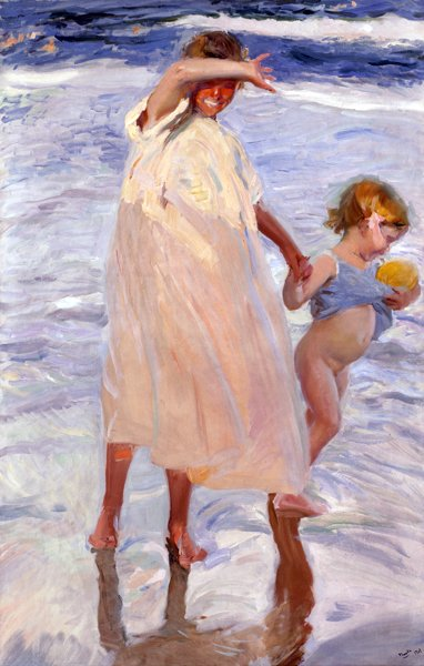 The Painter's Eye featuring Two Sisters, Valencia by Joaquin Sorolla y Bastida