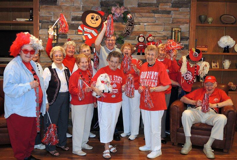 pickerington retirement communities host buckeye game day parties for