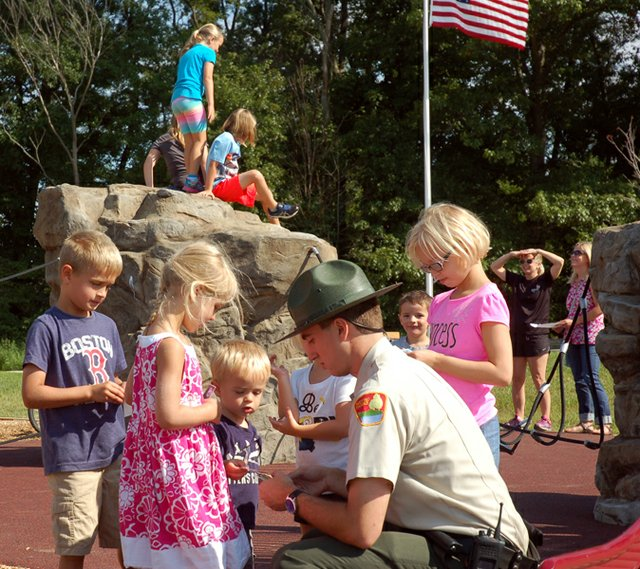 RKF_ranger and kids_handing out stickers_B Knowles.jpg