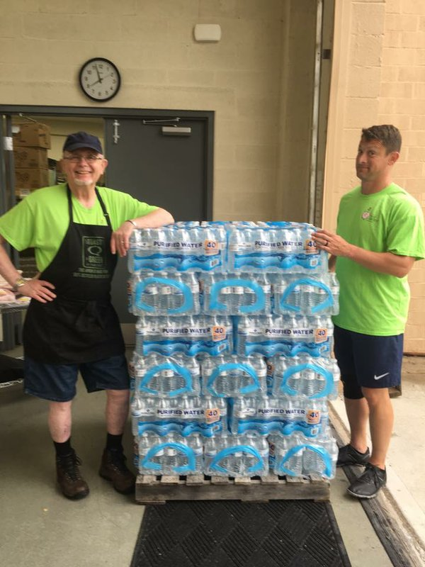 June 6 2016 - water donation from Sams Club.jpg